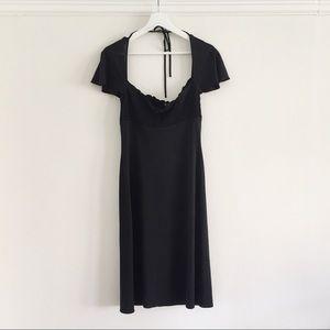 BCBCMaxazria black summer midi dress